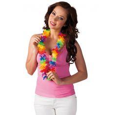Gekleurde Hawaii kransen. Hawaii of tropisch feestje? Bij Fun en Feest vind je de leukste Hawaii feestartikelen, kostuums en accessoires. Toppers Crazy Summer accessoires tip!