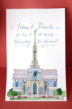 A beautiful temple poster. #temple #calligraphy #wedding