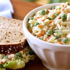Crunchy Veggie Ranch Egg Salad