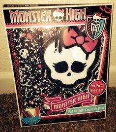 Monster High iPad Portfolio Case With Stand NEW Fits iPad 2 And Generation Monster High Room, Daisy Marie, Portfolio Case, Disney Descendants, Diy For Girls, Barbie Dolls, Ipad, Fitness, Batman