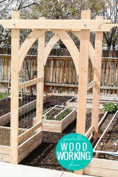 Garden Arbor, Garden Trellis, Diy Trellis, Diy Garden Fence, Garden Shrubs, Garden Gates, Potager Garden, Trellis Design, Arbor Gate