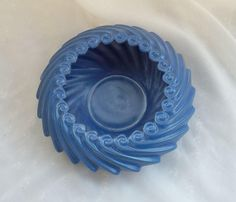 Mid Century Modern Blue Ceramic Planter Pot by TymelessTrinkets