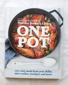 Cookbook: One Pot by Martha Stewart Living  Overall Impression: Clever recipes make this a great cookbook for nights when you want to make an easy, one-pot meal.       The latest release from the editors at Martha Stewart Living is based on a simple premise: cook your whole meal in one cooking vessel, and you'll get a great dinner with minimal cleanup. I was drawn in by the simple but sophisticated-looking recipes, most of which span just one well-edited page, and I was excited to see ...