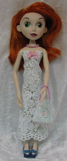 KIM POSSIBLE Disney Doll Clothes #34 Dress, Purse & Beaded Necklace Set #HandmadebyESCHdesigns
