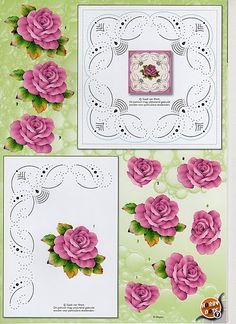Image du Blog lespassionscreativesdemarie.centerblog.net 3d Paper Crafts, Paper Art, Stitching On Paper, Image 3d, Embroidery Cards, Sewing Cards, Parchment Craft, Decoupage Paper, Card Patterns