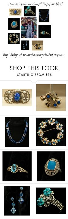 """""""Don't Sing the Blues!"""" by diana-32 ❤ liked on Polyvore featuring vintage"""