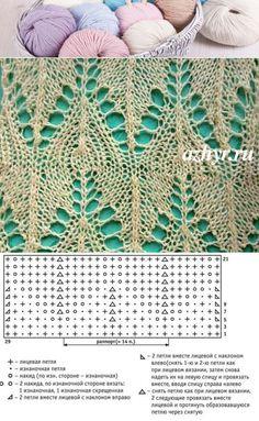 Knit lace pattern chart