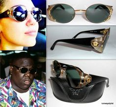 8cb9d519ecd8 GIANNI VERSACE ICONIC S65 MEDUSA HEAD GOLD GRILL SUNGLASSES-VINTAGE  1990s-UNWORN  GIANNIVERSACE