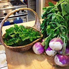 Harvested some fresh arugula this morning! Those greens paired with these beautiful turnips will make one delicious salad for lunch.