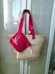 Capazo playero #bolso #purse #bag #rojo #red #patchwork