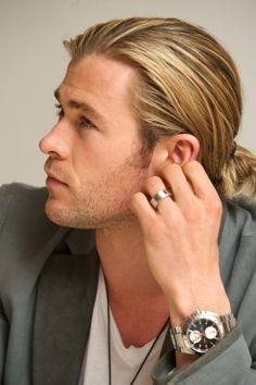 Hemsworth only some men can get away with the long hair, and you are one of them yummm.