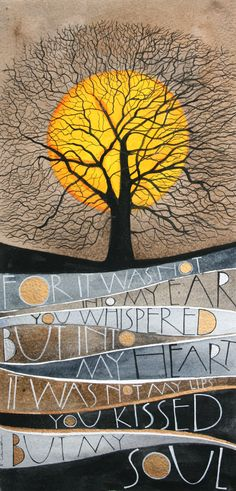 """Whispered"" - lettering work by Sam Cannon - watercolour and pen"
