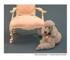 Kerri Pajutee Miniature Animals ~ Silver Standard Poodle