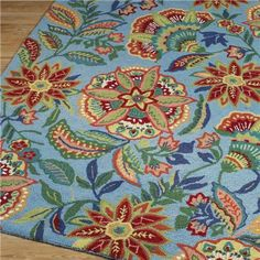 I LOVE THIS RUG!!! ShadesofLight.com catalog: Festive Floral Rug: 3 Colors Available