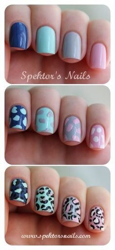 How to do Leopard Skittle #Nails