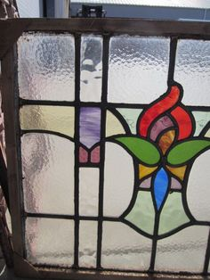 English Antique Stained Glass Window Architectural Antiques from mrbeasleys on Ruby Lane
