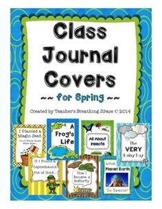 Class Journal Covers for Spring