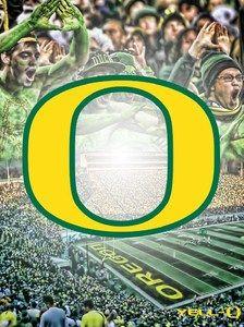 "oregon ducks football posters | Oregon Ducks ""Yell O Get Louder"" College Football Poster NCAA Sports ..."