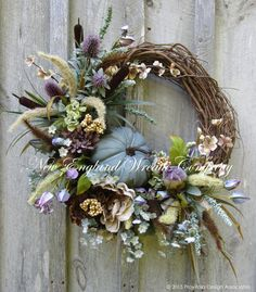 Fall Wreath, Autumn Wreath, Elegant Fall Wreath, Fall Floral, Thanksgiving, Harvest, Pumpkin Wreath, Country French Fall, Designer Wreath by NewEnglandWreath on Etsy https://www.etsy.com/listing/242631564/fall-wreath-autumn-wreath-elegant-fall