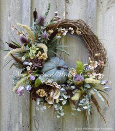 Fall Wreath, Autumn Wreath, Elegant Fall Wreath, Fall Floral, Thanksgiving, Harvest, Pumpkin Wreath, Country French Fall, Designer Wreath by NewEnglandWreath on Etsy https://www.etsy.com/listing/242631564/fall-wreath-autumn-wreath-elegant-fall