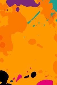 Orange Colour Splashes 8k Wallpapers | hdqwalls.com