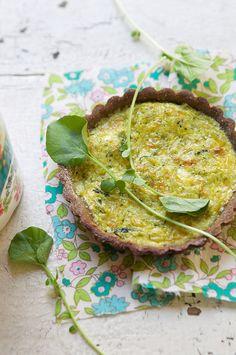 Tartelette aux légumes verts
