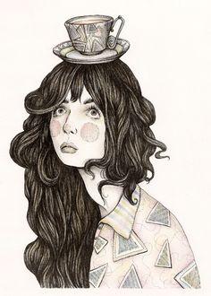 Brettisagirl  Ink Drawing 2009