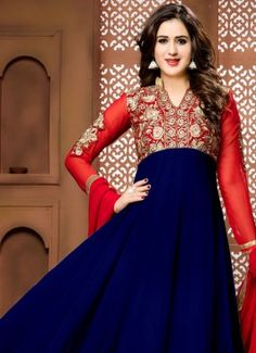 Magnificent Georgette Anarkali Salwar Suit #salwarsuit #indian #trendz #blue #bridal#bollewood #partywear #traditional#online #mangosurat#style #boutiques #shopping #fashion #modal #social #branding #sales #marketing #business #discount #deal #success #ethnic #creation #embroidery #classic #cloth #clothing #bridal wear#jardoshi #work #chiffon #acteress #navel