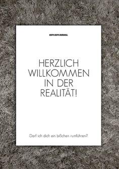 Typoprint / HERZLICH WILLKOMMEN IN DER REALITÄT