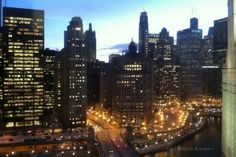 Office View of Chicago Skyline