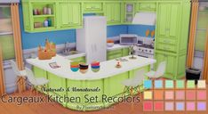 Cargeaux Kitchen Set Recolors at Pixelsimdreams via Sims 4 Updates