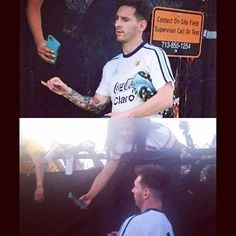 Messi with fans today by fc_barca1899