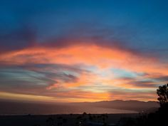 #SantaMonica #Sunset in Blue and Pink