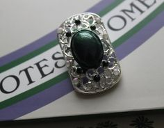 Give Women The Vote. Suffragette, Costume Jewelry, Class Ring, Sapphire, Brooch, Hand Painted, Jewellery, Trending Outfits, Unique Jewelry