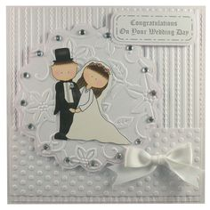 Free P Handmade Wedding Day Card by Helle Belles Cards