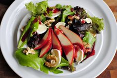 Simply Scratch » Fresh Pear & Brie Salad with Blackberry Vinaigrette