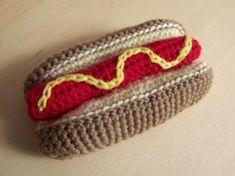 Crochet Hot Dog - Tutorial ❥ 4U // hf