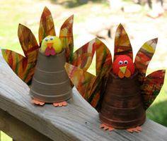 paper cup turkeys