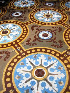 Floor tiles - Trinidad, Cuba