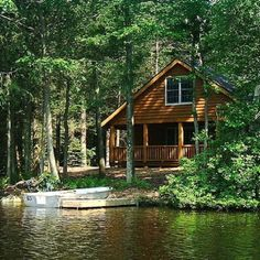 Beautiful - I'd love a cottage right on the lake.  Screened in porch though.