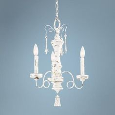 "Jessica McClintock Provence 15"" Wide Blanc Mini Chandelier - #Y2948 | LampsPlus.com Guest bathroom"