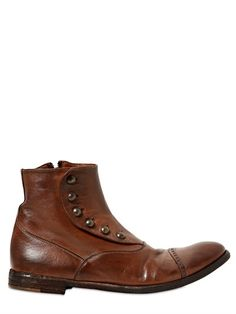 newest 24d7b ed77a Washed Vintage Leather Ankle Boots