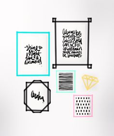DIY Washi tape frames with prints by Maiko Nagao