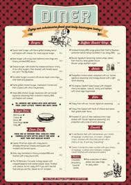 image result for 50 s diner menu templates free download 50 s