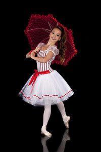 Boulevard Candy Stripe Costume Red White Mary Poppins Dance Tutu | eBay