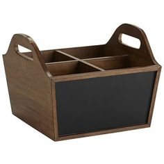 Shouldn't being neat be really neat? Our Corbin basket seems to think so. Its adorable chalkboard sides let you label craft supplies or write your kids a reminder to pick up their toys. And moving it? Super-easy, since it's made of lightweight wood with cutout handles.
