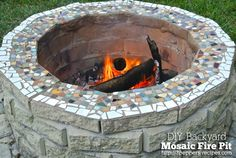 backyard mosaic firepit from 3Peppers-Recipes.com