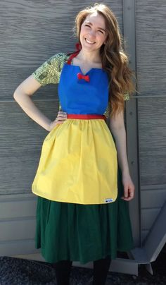 Items similar to SNOW WHITE Disney princess inspired Costume APRON. Fits Teen/ Adult Women size Dress up Birthday Party Gift Play Photo Prop Disneyland on Etsy Disney Princess Aprons, Disney Aprons, Princess Costumes, Dress Up Aprons, Aprons For Sale, White Scrubs, Snow White Costume, Pdf Sewing Patterns, Free Sewing