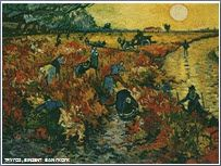 Vincent van Gogh - Red Vineyards of Arles. Pushkin Museum of Fine Art, Moscow. In his lifetime Van Gogh sold only one painting, and this is the one ! Art Van, Van Gogh Art, Van Gogh Pinturas, Paul Gauguin, Desenhos Van Gogh, Kunsthistorisches Museum, Painting Prints, Art Prints, Spray Painting