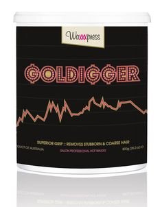 Waxxxpress. Add some bling to your waxing treatments! If you ain't a goldigger, girl, your salon ain't gonna get to the top! There's no time for short and stubborn hairs when your clients got their bling on and flauntin' that boot-ay. My naturally flexible non-brittle formula spreads on thinly and has superior grip, coz I have been formulated, like you, to always achieve exceptional results.  Use me if you like to speed wax. Best for total body waxing.
